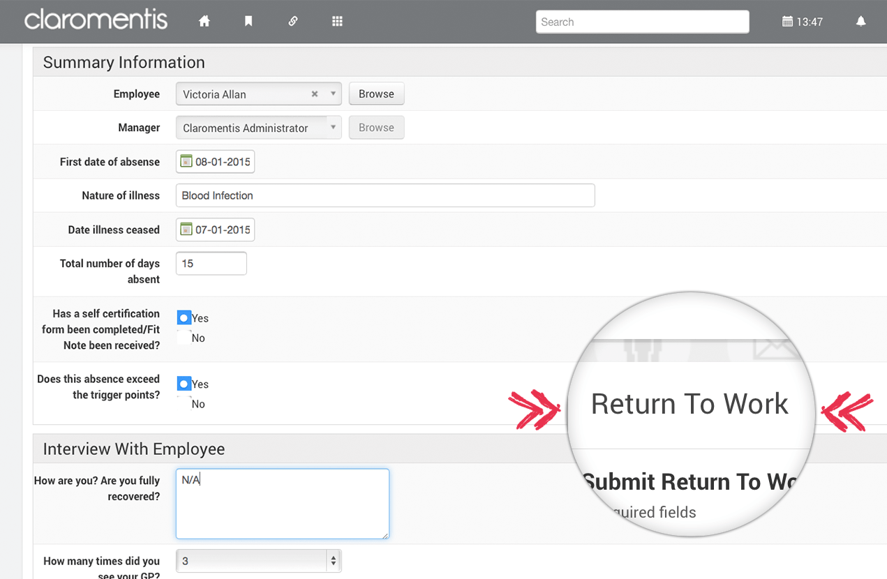 E form examples bpm platform return to work e form 1betcityfo Image collections