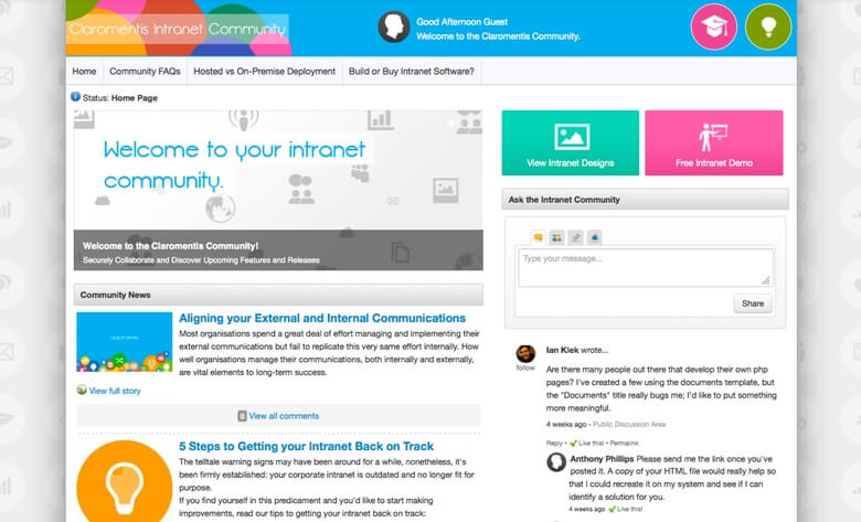 Claromentis Launches An Online Intranet Community