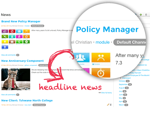 Headline News and Announcements