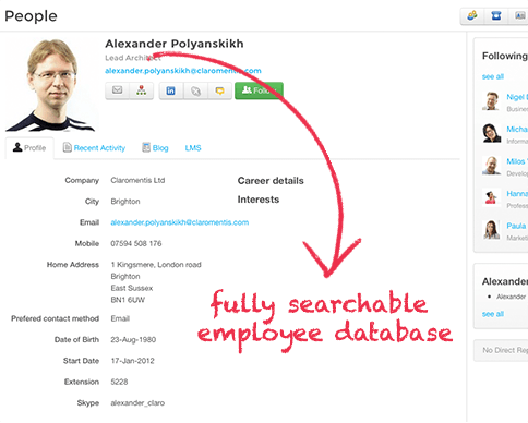 Fully Searchable and Filterable Employee Database