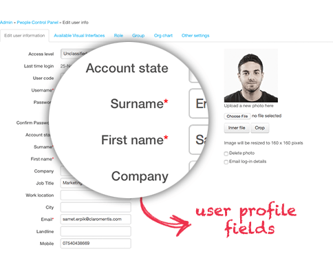 Customising Intranet User Profile Fields