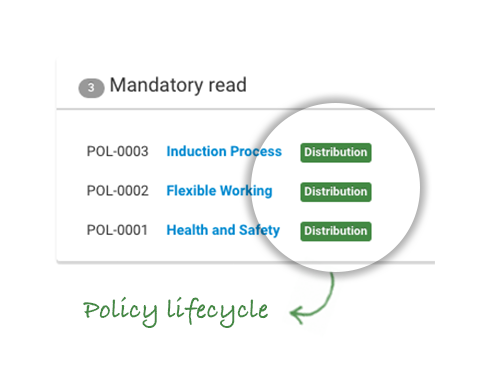 Manage Policy lifecycle from draft to acceptance