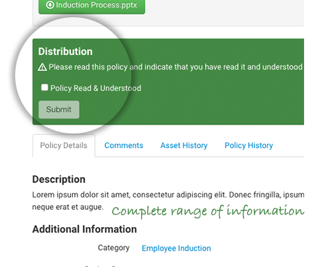Integrate a full range of policy information formats