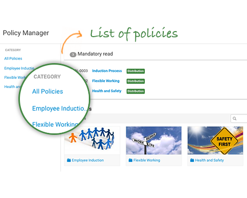 Maintain Master lists of Policies and Procedures