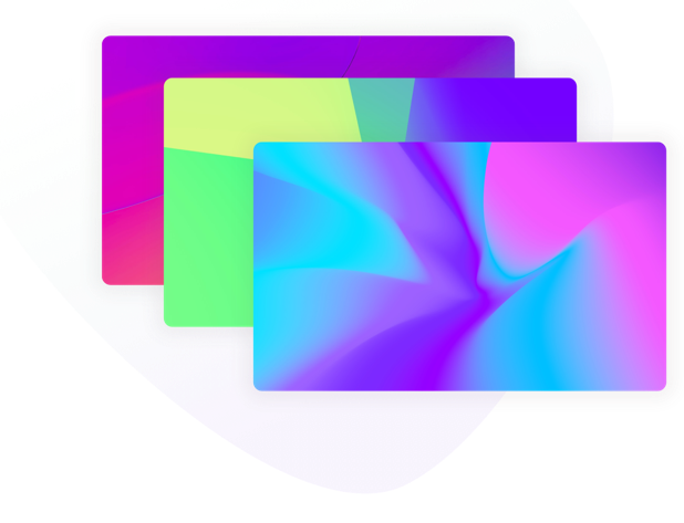 Several different colourful gradient panels stacked on top of each other
