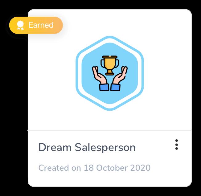 Employee engagement badge