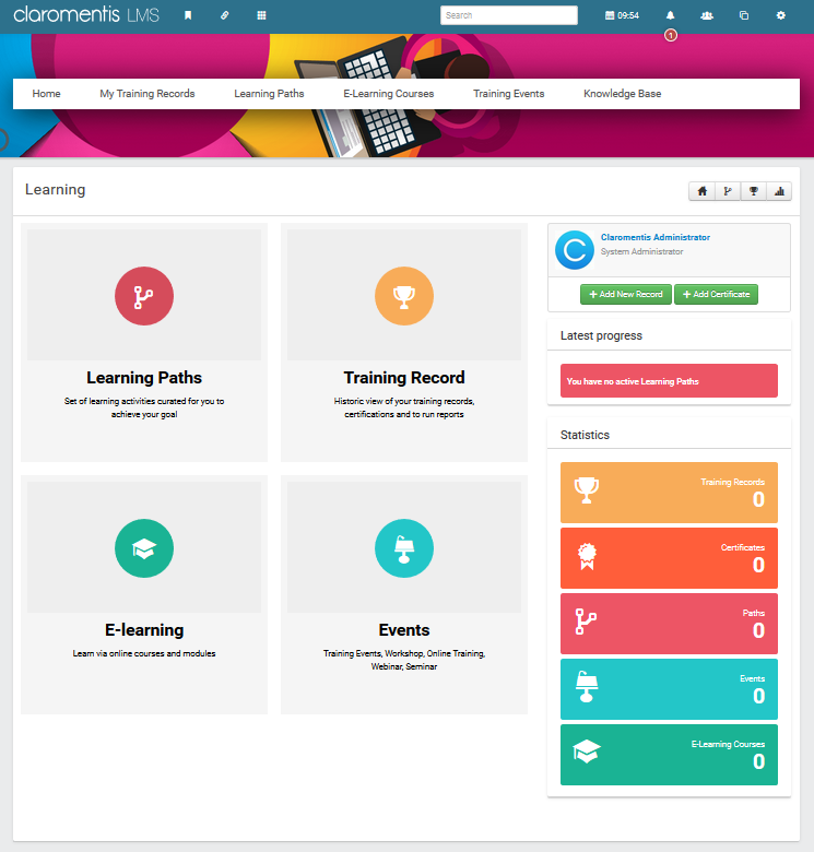 Claromentis Learning Management System