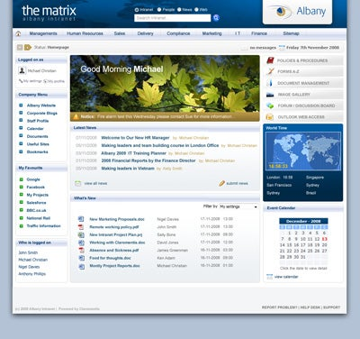 Sharepoint website design examples 31 intranet homepage design.