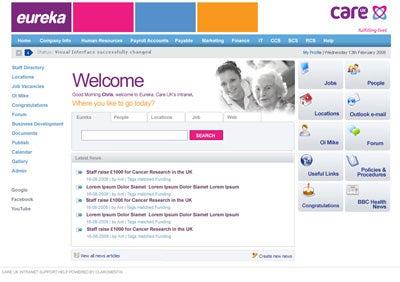 Eureka - Care UK Intranet