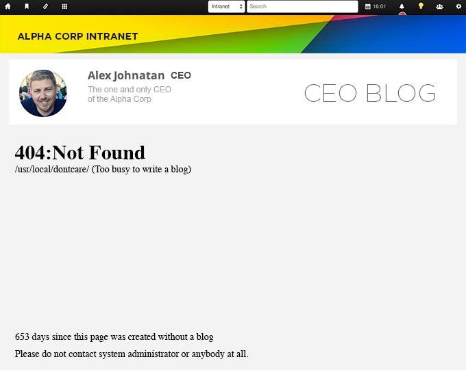 Boring CEO Blog Alert