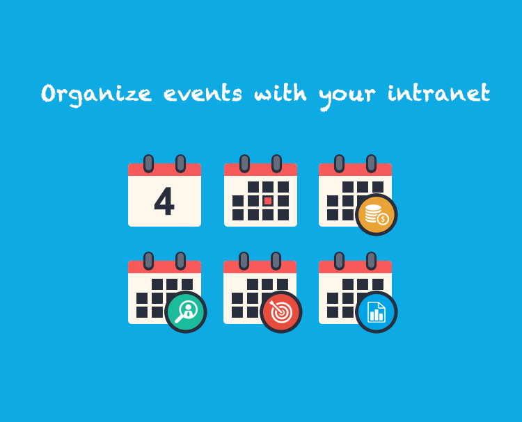 Organise your events with your intranet software