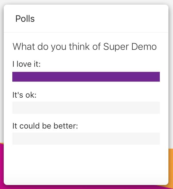 Claromentis Polls App