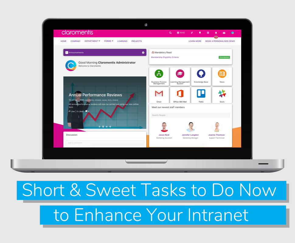 Short and Sweet Tasks to Do Now to Enhance Your Intranet