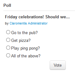 Claromentis Intranet Polls