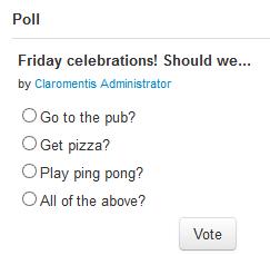 Claromentis Intranet Polls