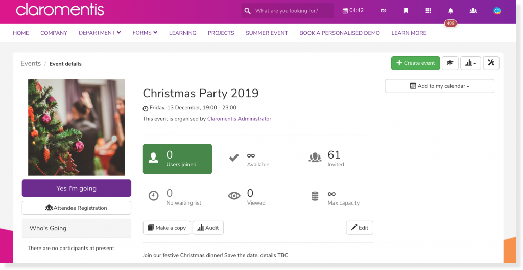 All I Want For Christmas… Is a Festive Intranet | Claromentis