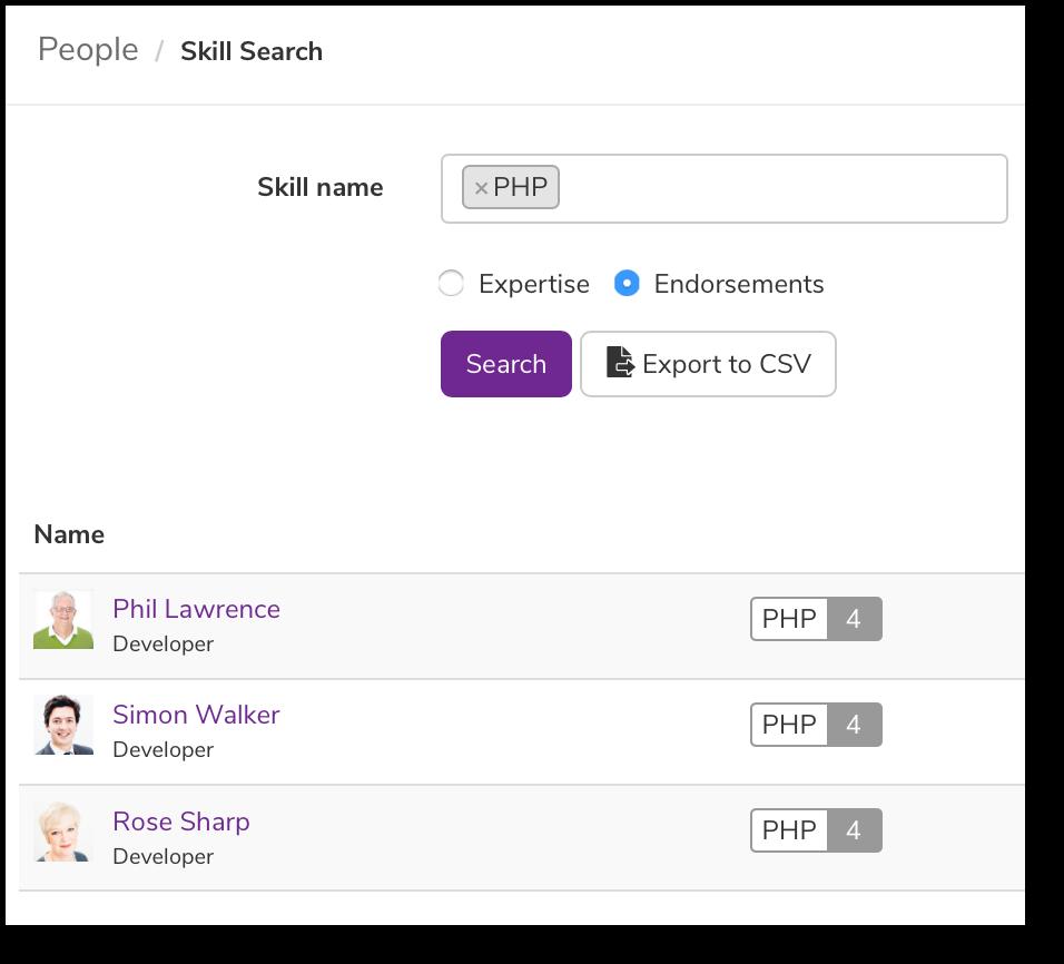 Skills search | Claromentis