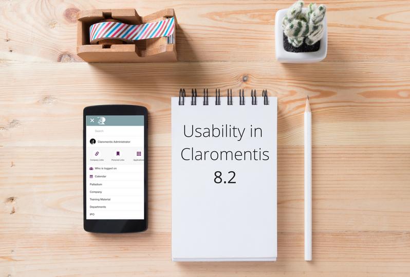Usability in Claromentis 8.2