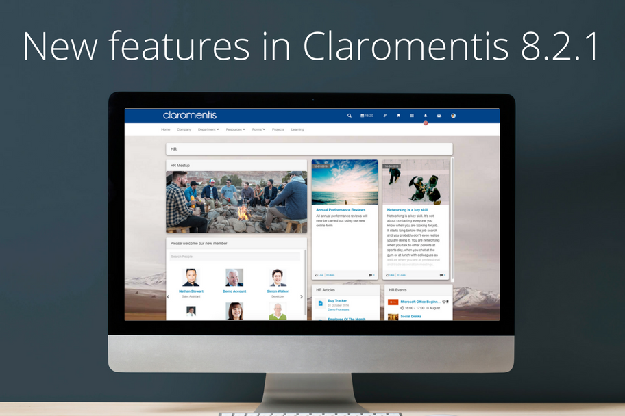 New Features in Claromentis
