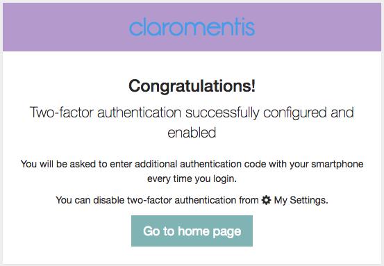 Google Authenticator in Claromentis