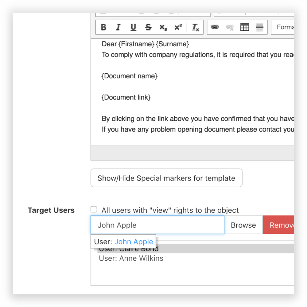 Automate Notifications to Inform Users of a Compliance