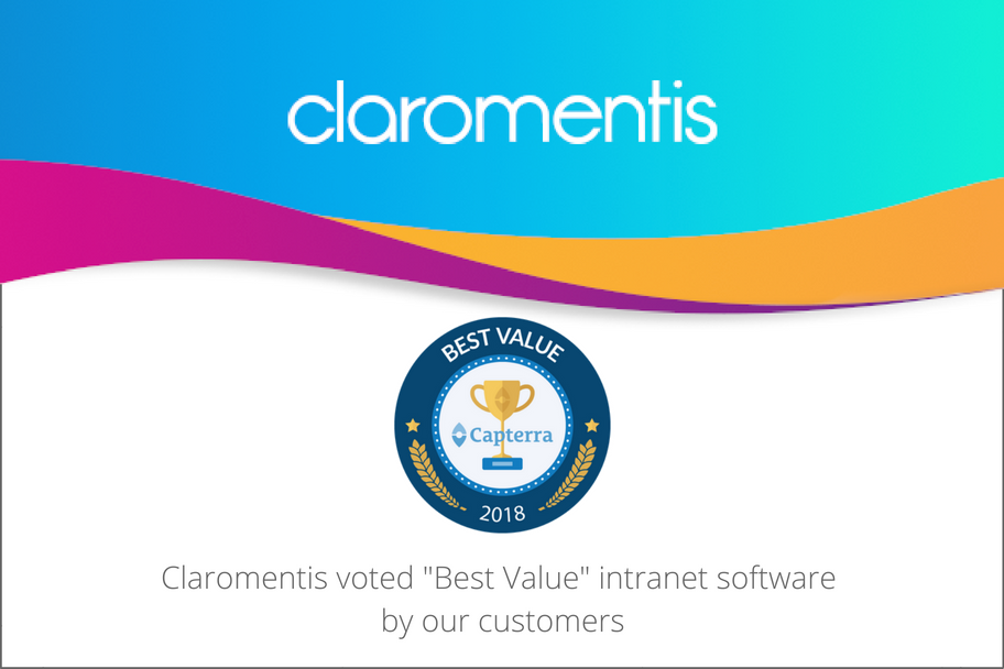 Claromentis voted Best Value intranet software by our customers