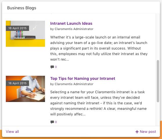 Claromentis intranet blog