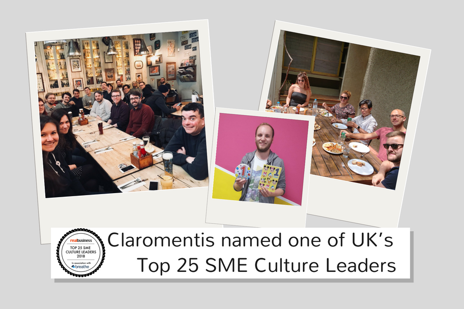 Claromentis named one of UK's top 25 SME culture leaders