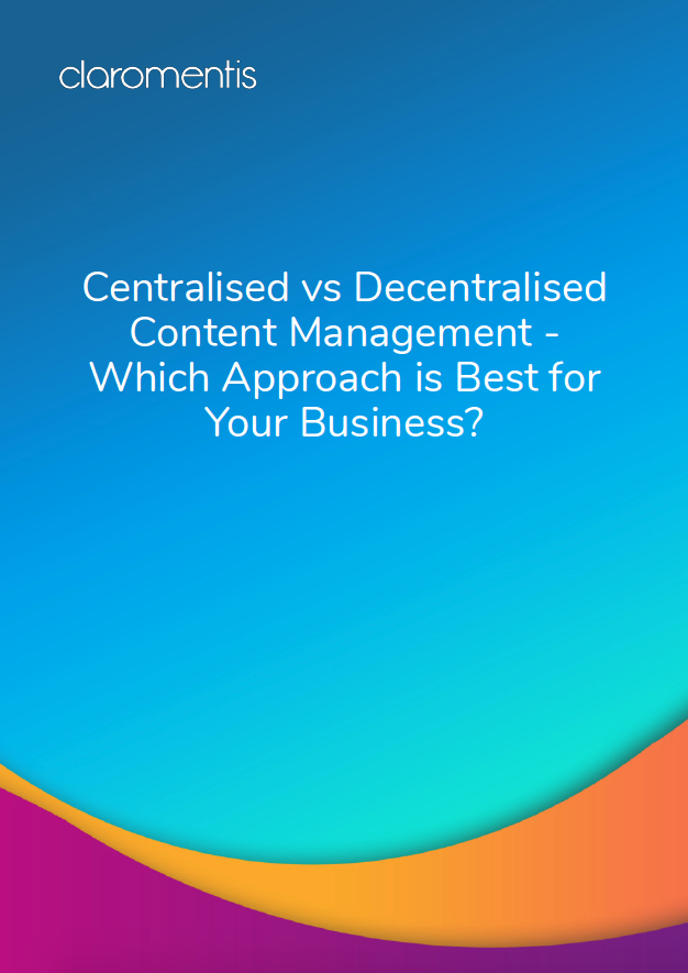 Centralised vs decentralised content management 2019