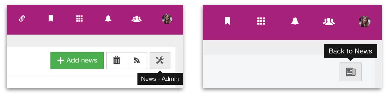 Claromentis Admin link