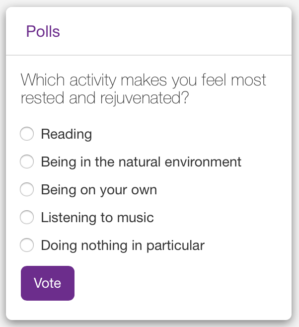 HR Poll | Claromentis
