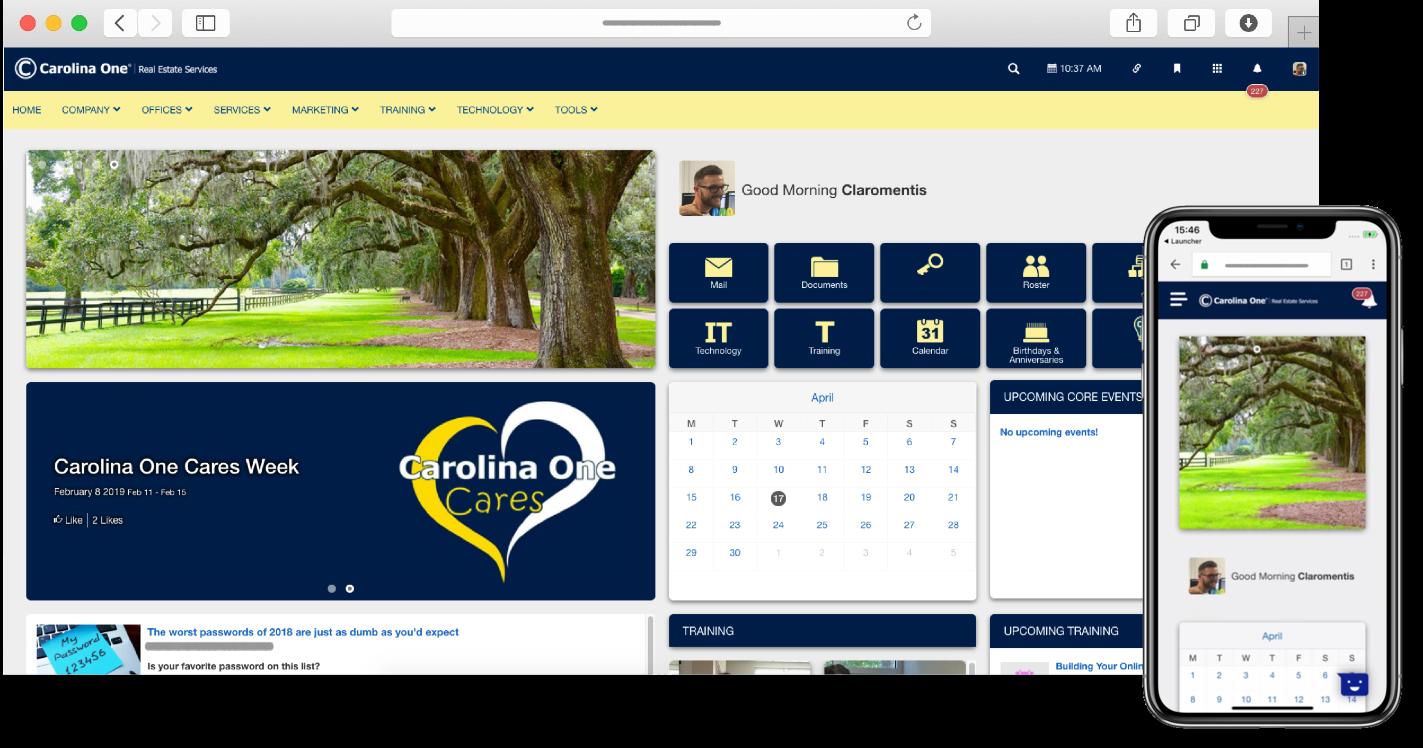 Carolina One Intranet and Mobile | Claromentis