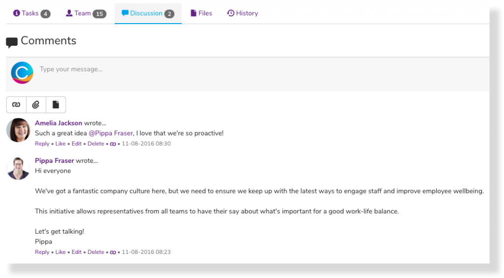 Company culture feedback | Claromentis