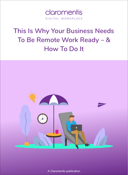 Remote working e-book cover | Claromentis