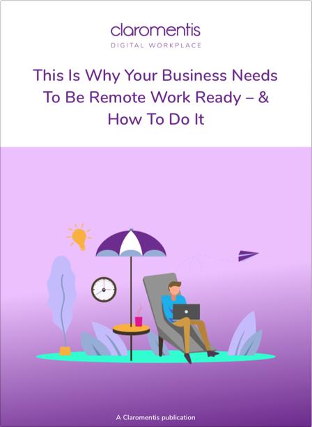 Remote working e-book cover | Claromentis