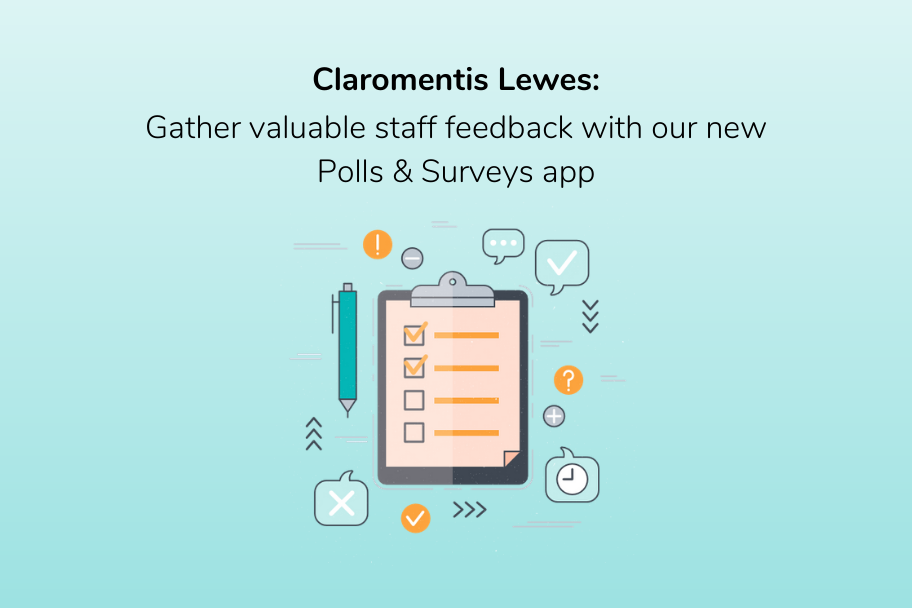 [New version] Claromentis Lewes_ Gather valuable staff feedback with our new Polls & Surveys app