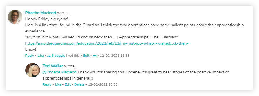 apprenticeship-connect-intranet-staff-room-comments
