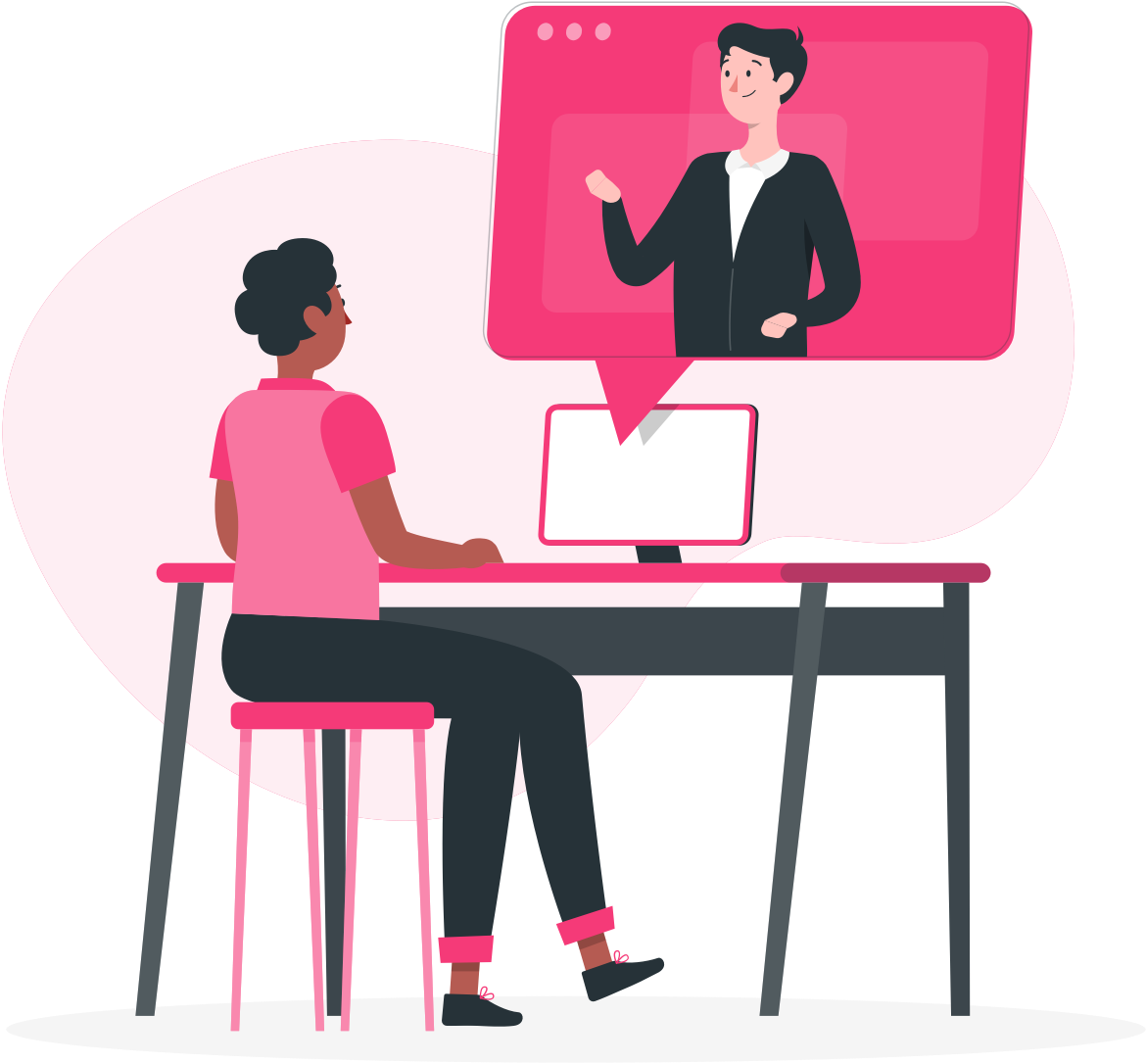 illustration-worker-communicating-to-coworker-via-video-call