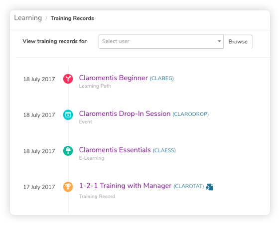 claromentis-training-records